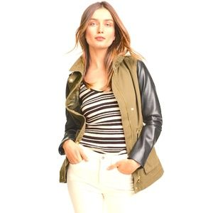 H & M  military/Utility Jacket,  khaki /Tan /Black